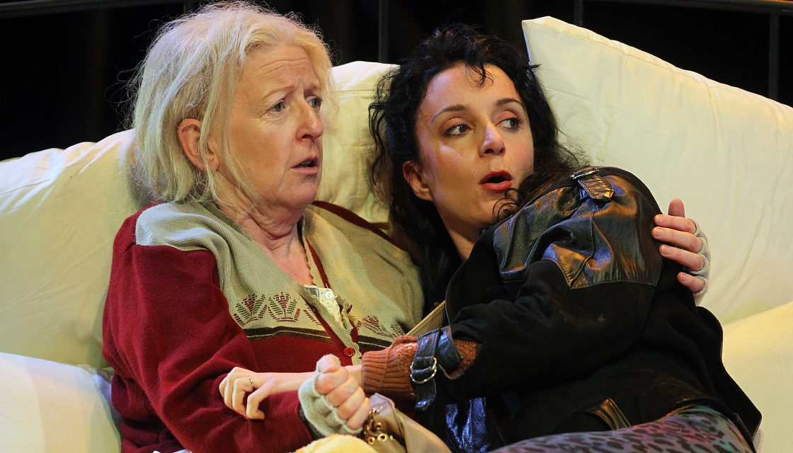 Joan Sheehy as Mommo and Maeve Fitzgerald as Dolly in Tom Murphy's Bailegangaire